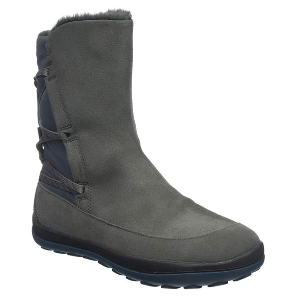 Camper Peu Pista Cowhide-Polyester Womens Boots#color_medium gray