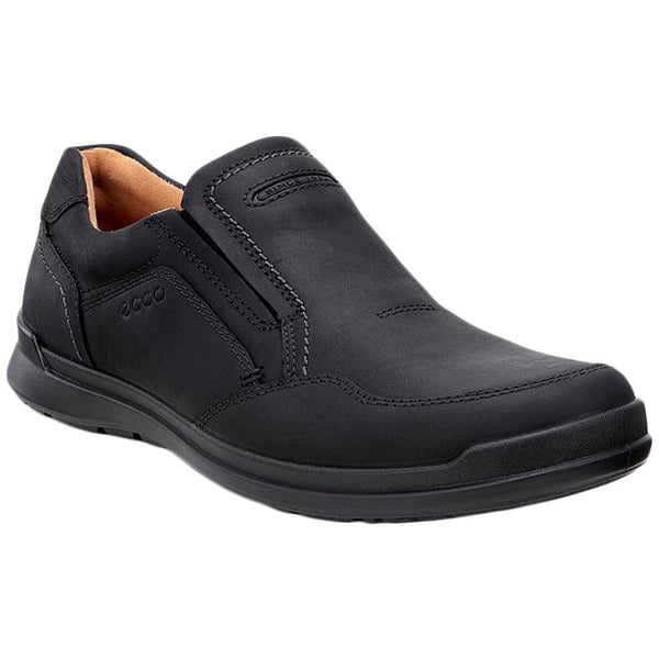 Ecco Howell Oiled Nubuck Mens Shoes#color_black