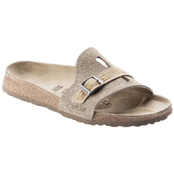 Papillio Carmen Suede Embossed Womens Sandals#color_silver splashes mud