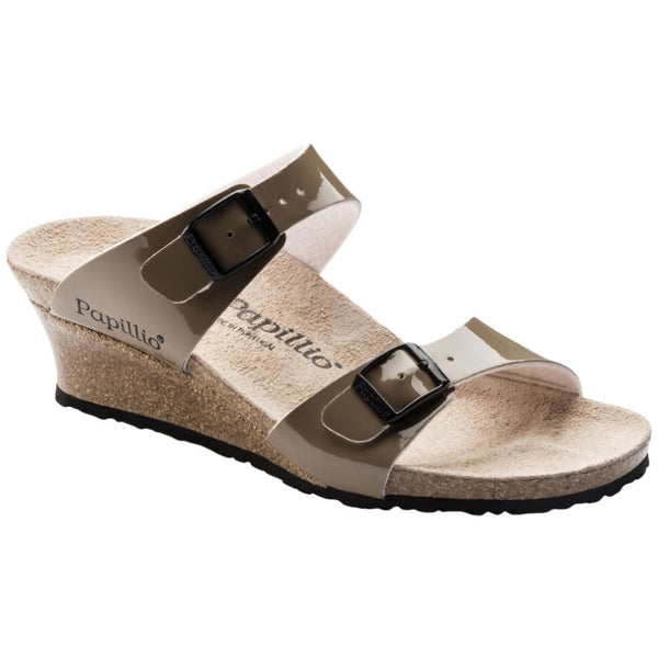 Papillio Dorothy Birko-Flor Patent Womens Sandals#color_two-tone patent mud