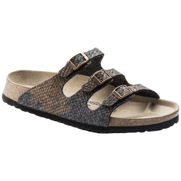 Papillio Florida Wool Felt Womens Sandals#color_shiny felt anthracite