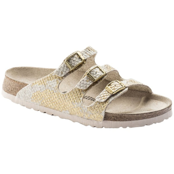 Papillio Florida Wool Felt Womens Sandals#color_shiny felt offwhite