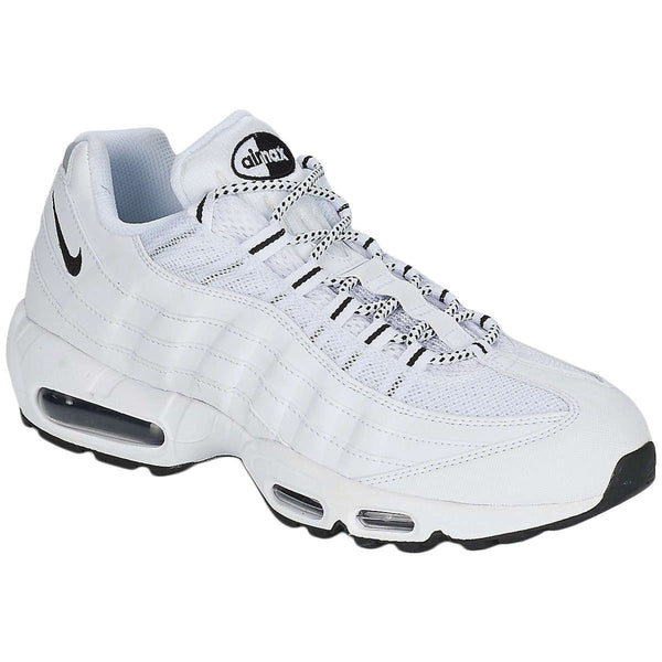 Nike Air Max 95 Synthetic Textile Mens Trainers#color_white black