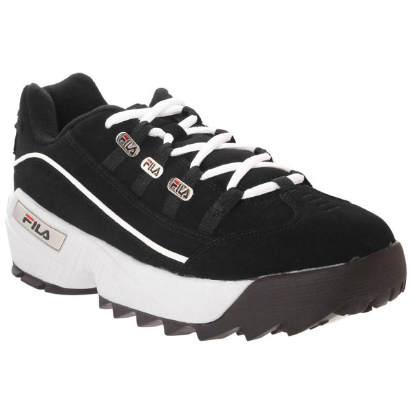 Fila Hometown Extra Synthetic Mens Trainers#color_black white red