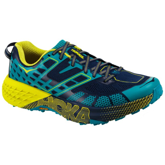 Hoka One One Speedgoat 2 Textile Synthetic Mens Trainers