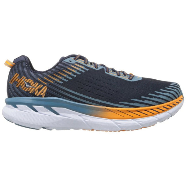 Hoka One One Clifton 5 Textile Synthetic Mens Trainers#color_black iris storm blue