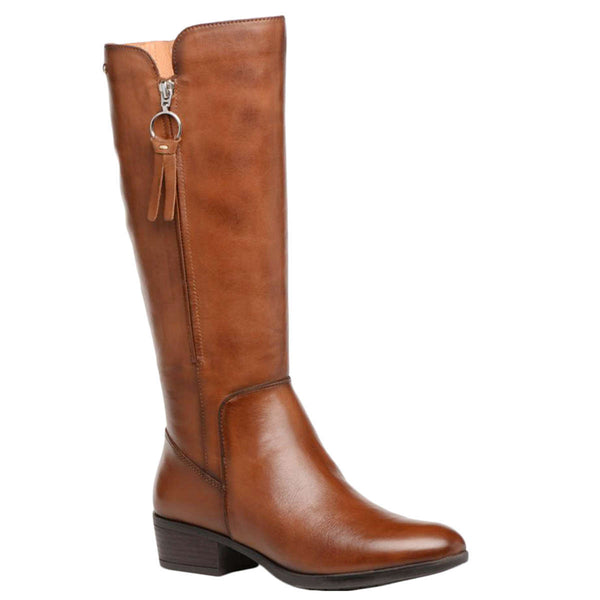 Pikolinos Daroca Leather Womens Boots#color_cuero