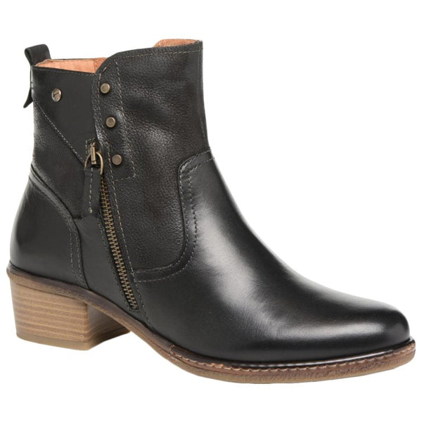Pikolinos Zaragoza Leather Womens Boots#color_black