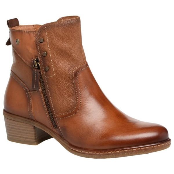 Pikolinos Zaragoza Leather Womens Boots#color_brandy