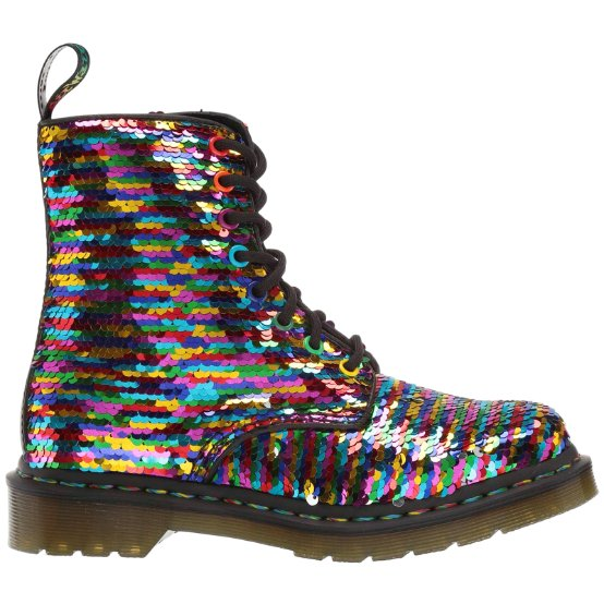 Dr.Martens 1460 Pascal Sequin Shift Sequins Synthetic Womens Boots#color_rainbow