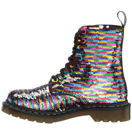 Dr.Martens 1460 Pascal Sequin Shift Sequins Synthetic Womens Boots