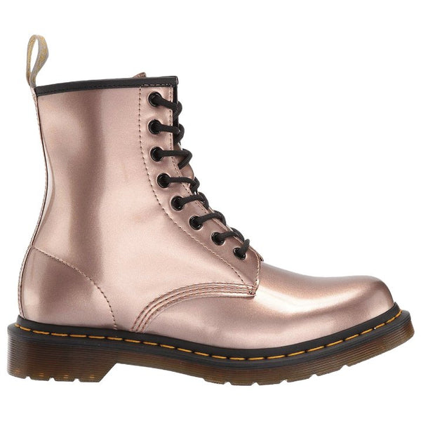 Dr.Martens 1460 Vegan Chrome Paint Metallic Synthetic Womens Boots#color_rose gold