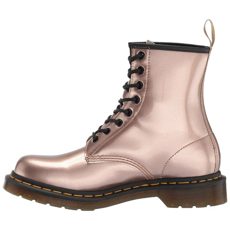 Dr.Martens 1460 Vegan Chrome Paint Metallic Synthetic Womens Boots