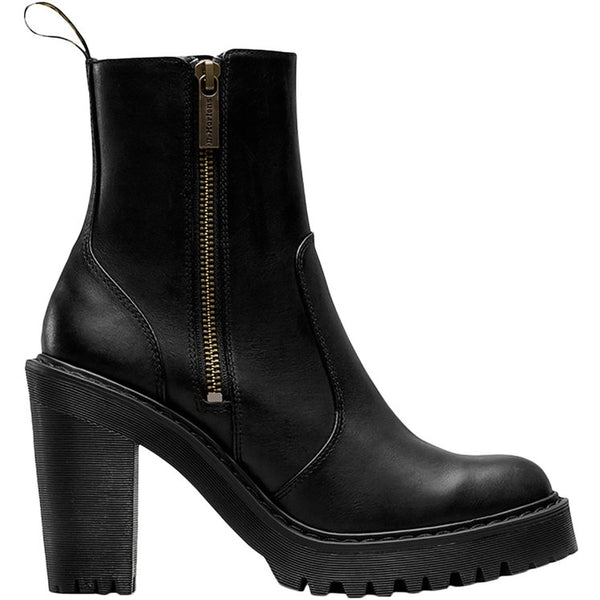 Dr.Martens Magdalena II Sendal Leather Womens Boots#color_black