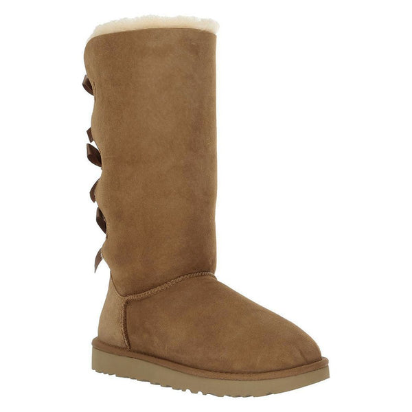 Ugg Australia Bailey Bow Tall II Suede Womens Boots#color_chestnut