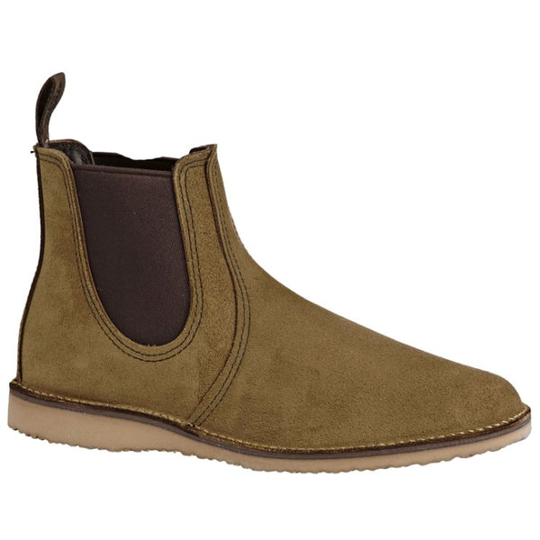 Red Wing Weekender Chelsea Suede Mens Boots#color_olive
