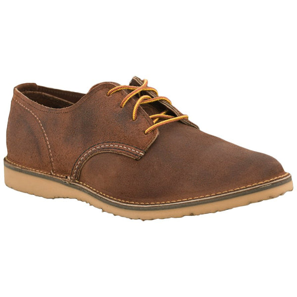 Red Wing Weekender Oxford Suede Mens Shoes#color_red maple