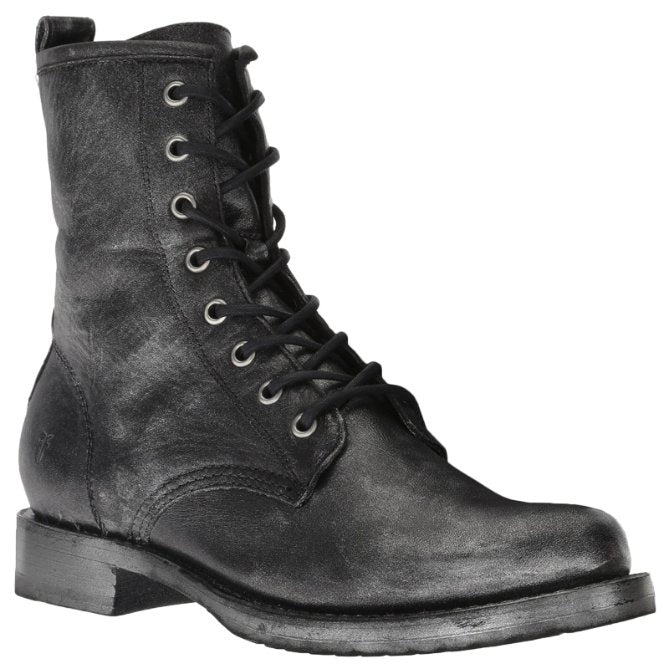 Frye Veronica Combat Leather Womens Boots