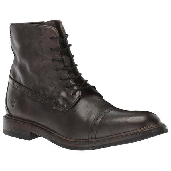 Frye Murray Lace Up Leather Mens Boots#color_brown