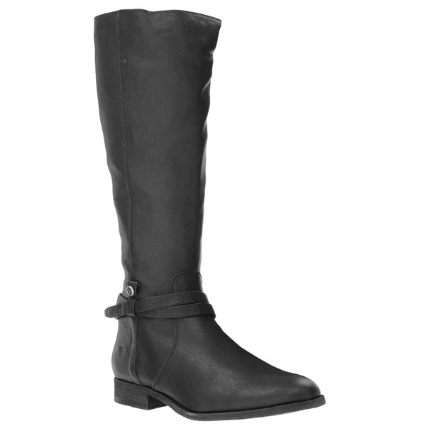 Frye Melissa Belted Tall Leather Womens Boots#color_black