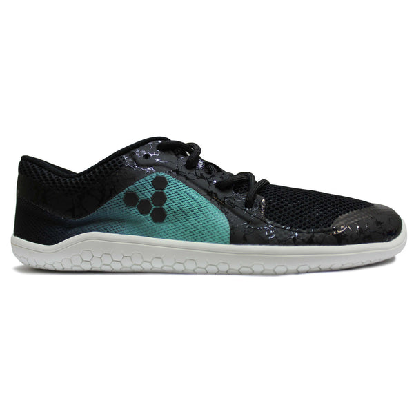 Vivobarefoot Primus Lite Mesh Synthetic Womens Trainers#color_black spearmint green