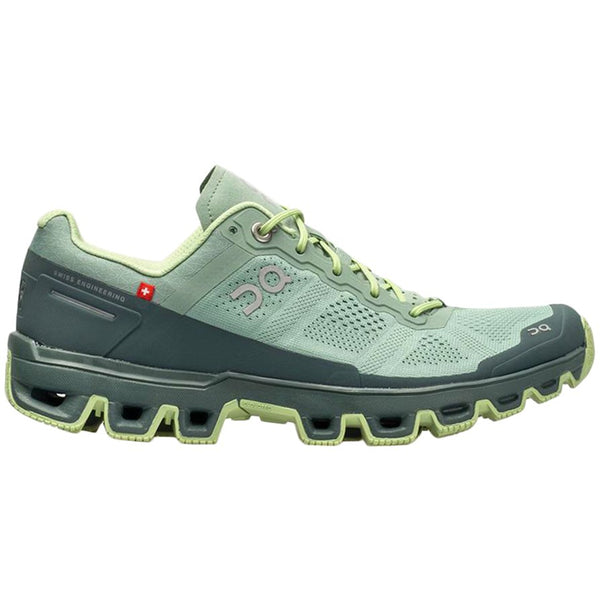 On Running Cloudventure Textile Synthetic Womens Trainers#color_moss olive