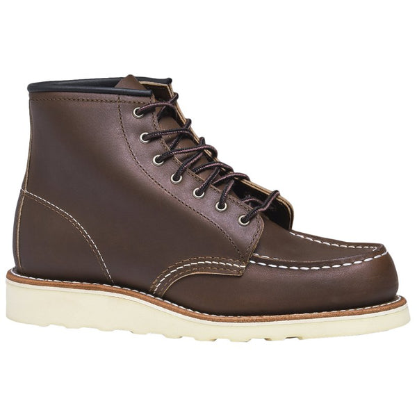 Red Wing 6 Inch Moc Leather Womens Boots#color_mahogany