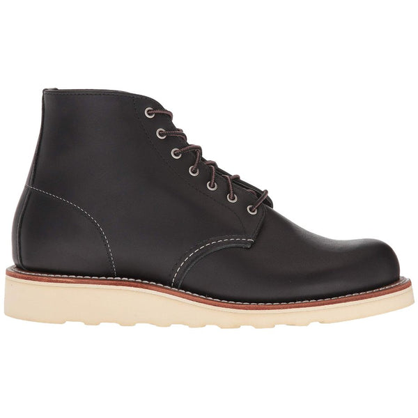 Red Wing 6 Inch Round Leather Womens Boots#color_black boundary