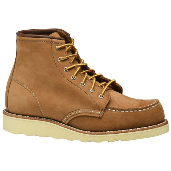Red Wing 6 Inch Moc Nubuck Womens Boots#color_honey chinook
