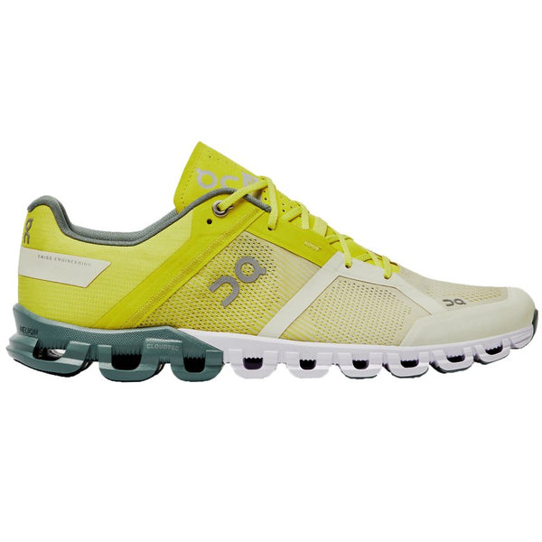 On Running Cloudflow Textile Synthetic Mens Trainers#color_citrus sea