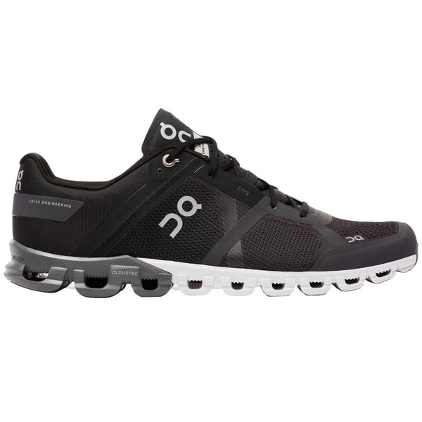 On Running Cloudflow Textile Synthetic Mens Trainers#color_black asphalt