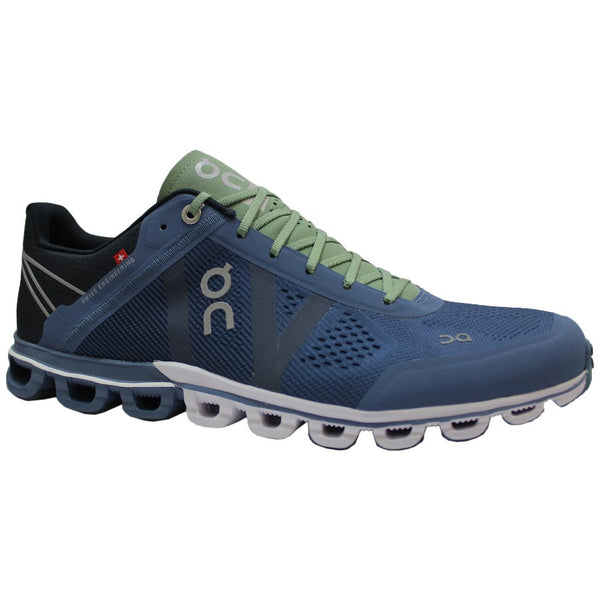 On Running Cloudflow Textile Synthetic Mens Trainers#color_lake fern