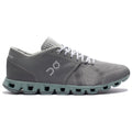 On Running Cloud X Textile Synthetic Mens Trainers#color_rock sea