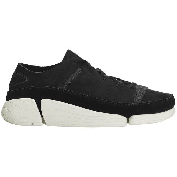 Clarks Originals Trigenic Evo Leather Textile Womens Trainers#color_black
