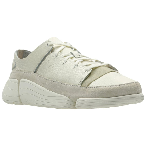 Clarks Originals Trigenic Evo Leather Textile Womens Trainers#color_white