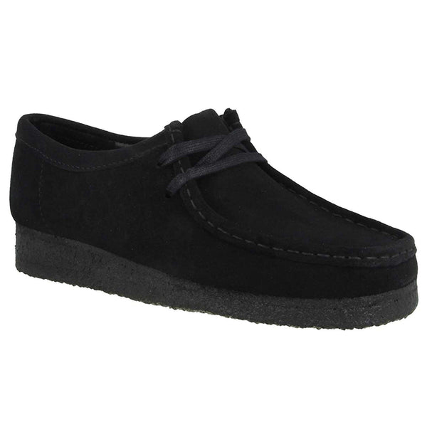 Clarks Originals Wallabee Suede Womens Shoes#color_black black