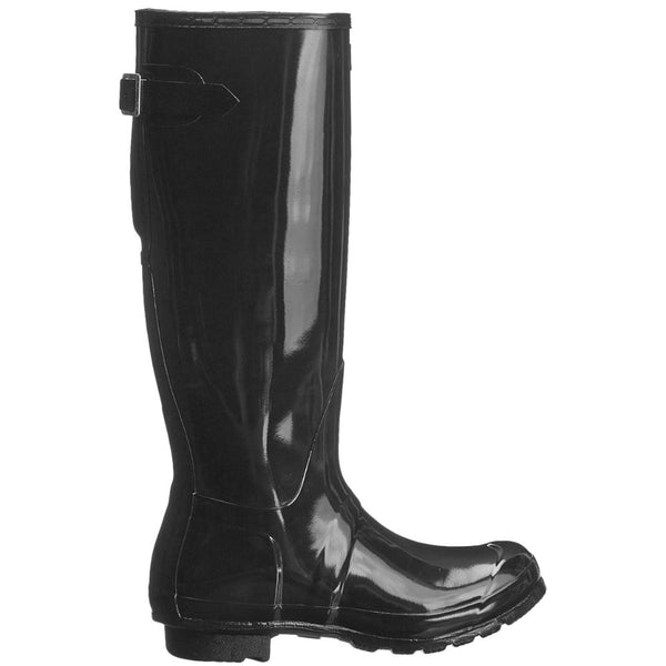 Hunter Original Tall Adjustable Gloss Rubber Womens Boots#color_black
