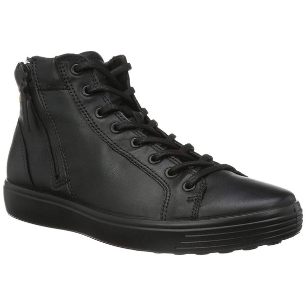 Ecco Soft 7 Leather Mens Trainers#color_black lion