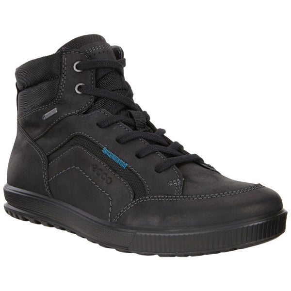 Ecco Ennio Oiled Nubuck Mens Trainers#color_black