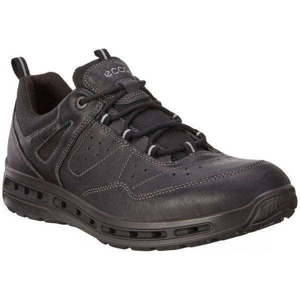 Ecco Cool Walk GTX Leather Textile Mens Shoes#color_black