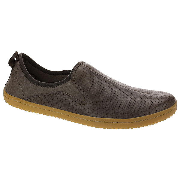 Vivobarefoot Slyde Leather Mesh Mens Trainers#color_dark brown
