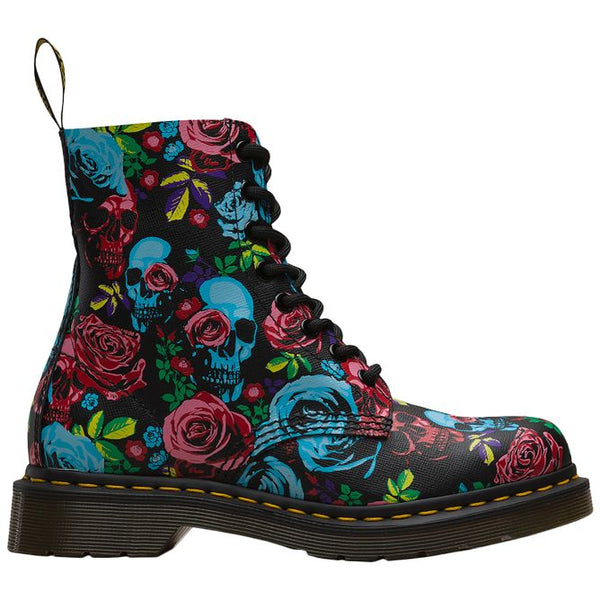 Dr.Martens 1460 Pascal Rose Backhand Straw Grain Womens Boots#color_multi rose fantasy