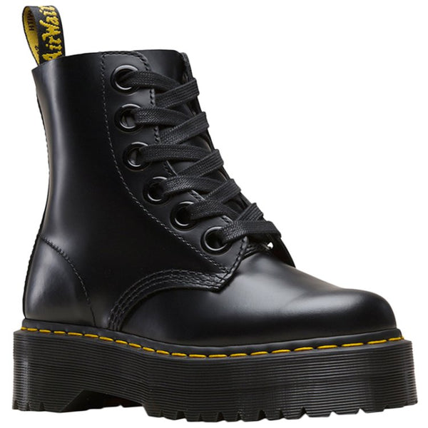 Dr.Martens Molly Buttero Leather Womens Boots#color_black
