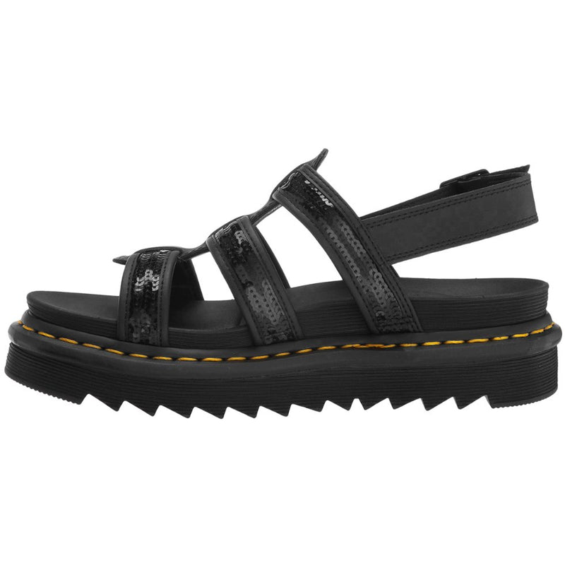 Dr.Martens Yelena Sequin Leather Textile Womens Sandals
