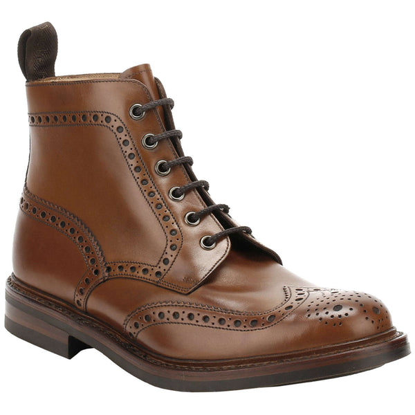 Loake Burnished Calf Bedale Leather Mens Boots#color_brown