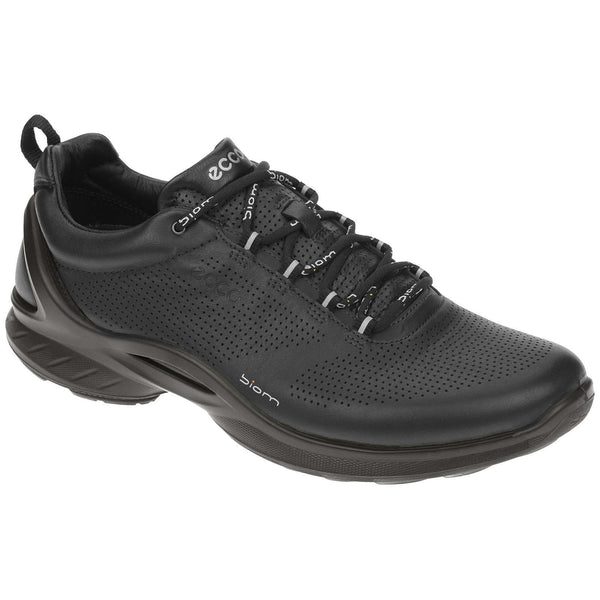 Ecco Biom Fjuel Leather Mens Trainers#color_black