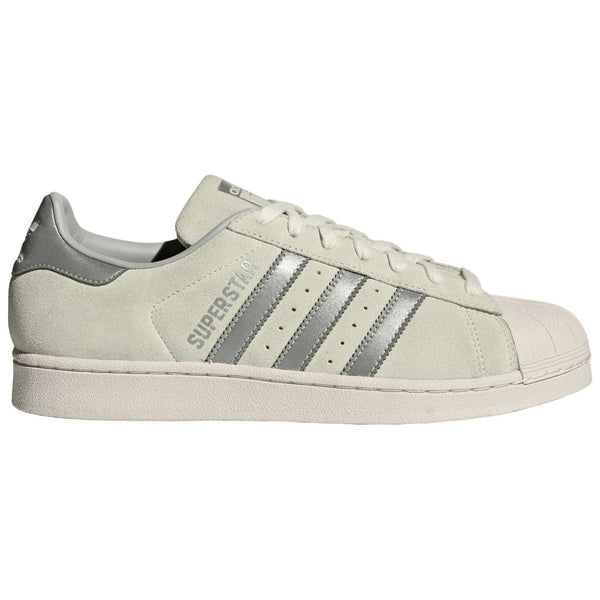 Adidas Superstar Suede Synthetic Mens Trainers#color_off white supplier colour