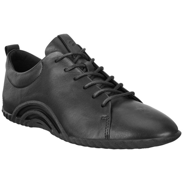 Ecco Vibration 1.0 Leather Womens Trainers#color_black