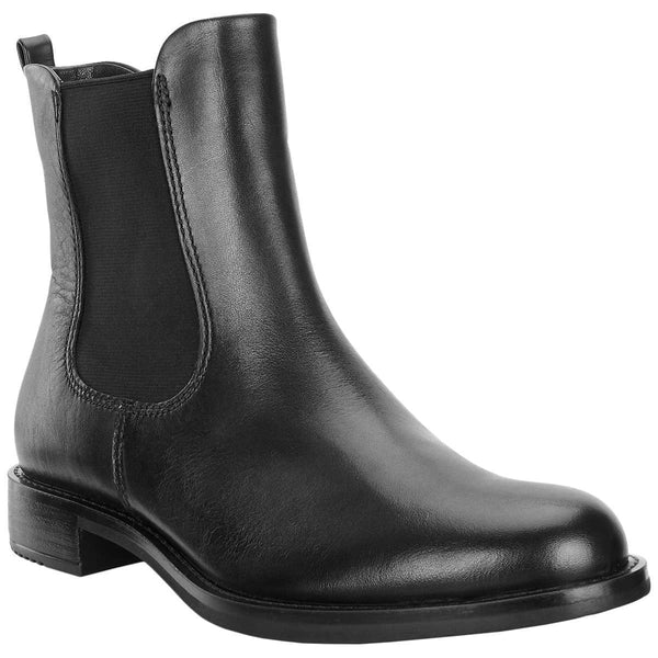 Ecco Shape 25 Leather Womens Boots#color_black