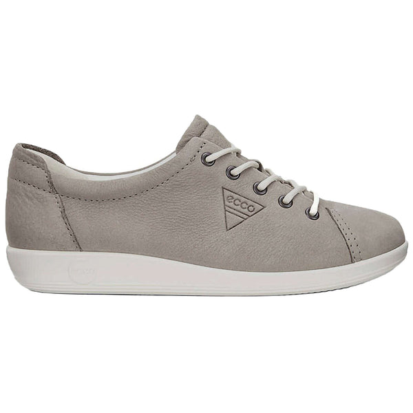 Ecco Soft 2.0 Leather Womens Trainers#color_warm grey